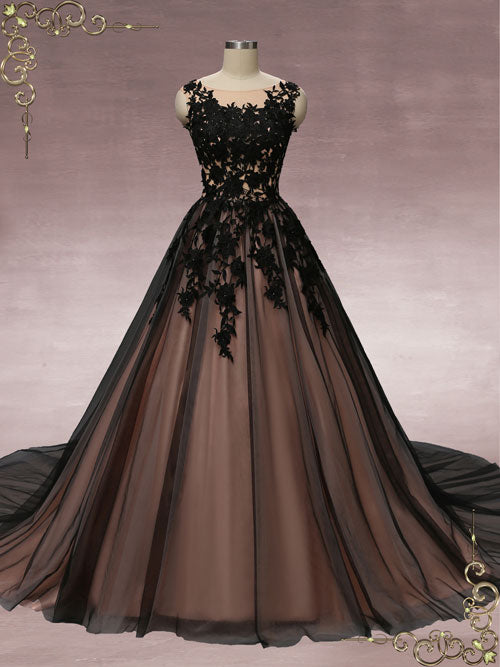 Black Lace Ball Gown Wedding Dress | Martha – ieie