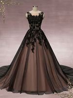 Black Lace Ball Gown Wedding Dress | Martha