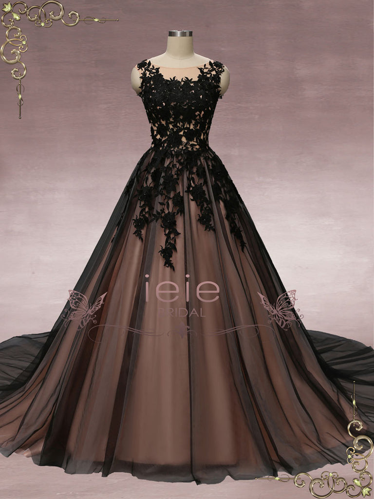 black gown for wedding party