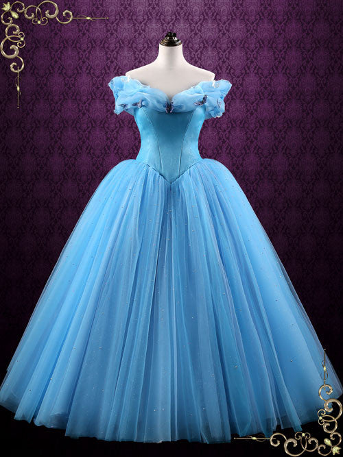 Cinderella Blue Ball Gown Evening Dress CINDERELLA