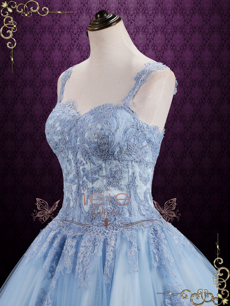 Blue cinderella style ball gown wedding dress seattle for Cinderella wedding dress up