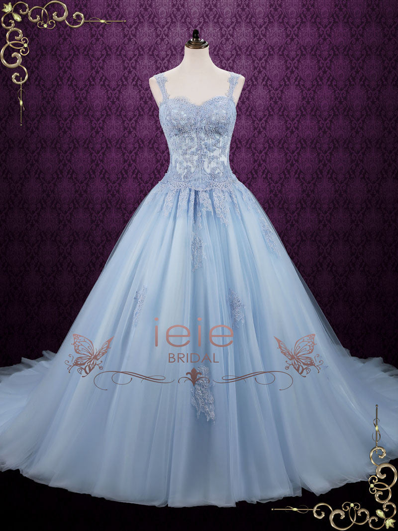 Blue Cinderella Style Ball Gown Wedding Dress | Seattle | ieie Bridal