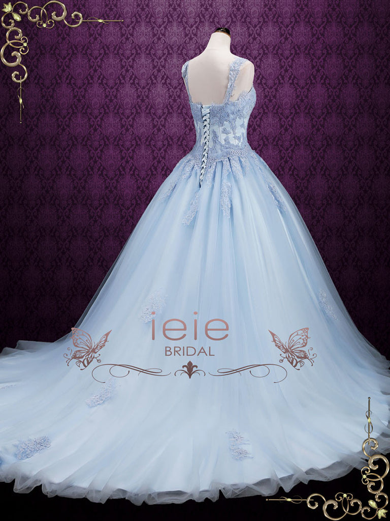 Blue Cinderella Style Ball Gown Wedding Dress SEATTLE