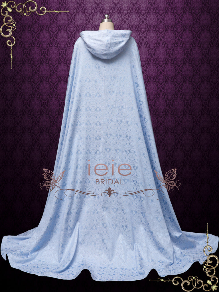 Hooded Blue Long Cloak Cape