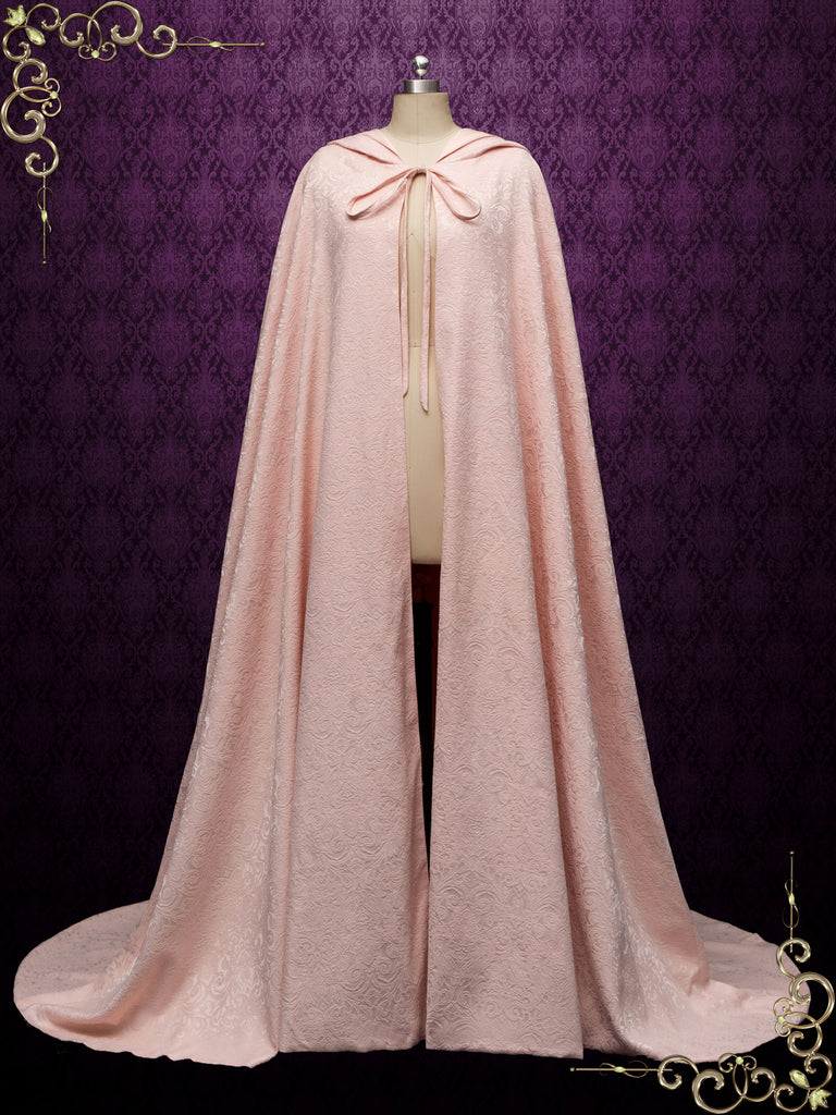 Medieval Cotton Jacquard Wedding Cloak Y200502