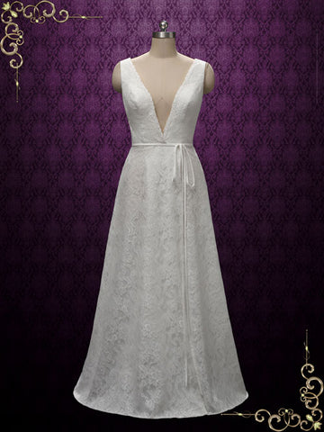 Slim A-line Wedding Dress | ieie Bridal