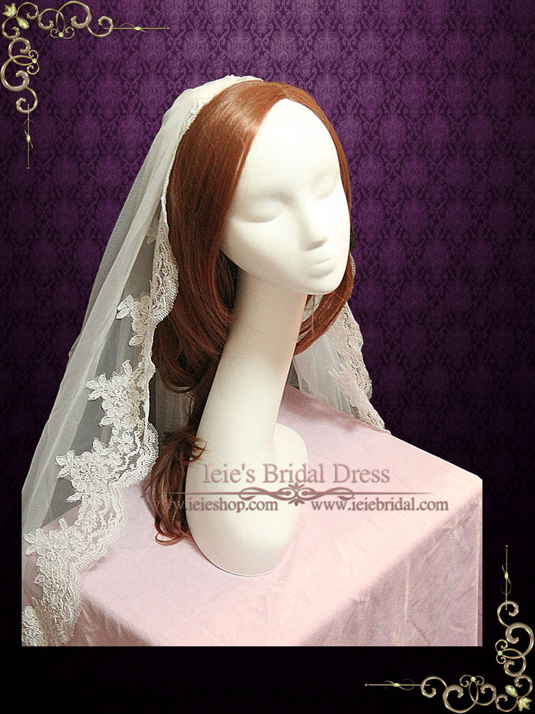 Cathedral Length Lace Bridal Veil