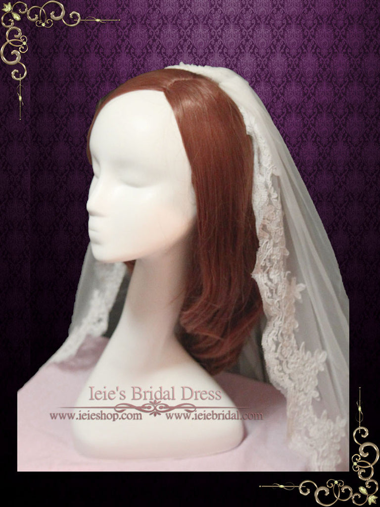Lace Wedding Veil with Comb VG1050