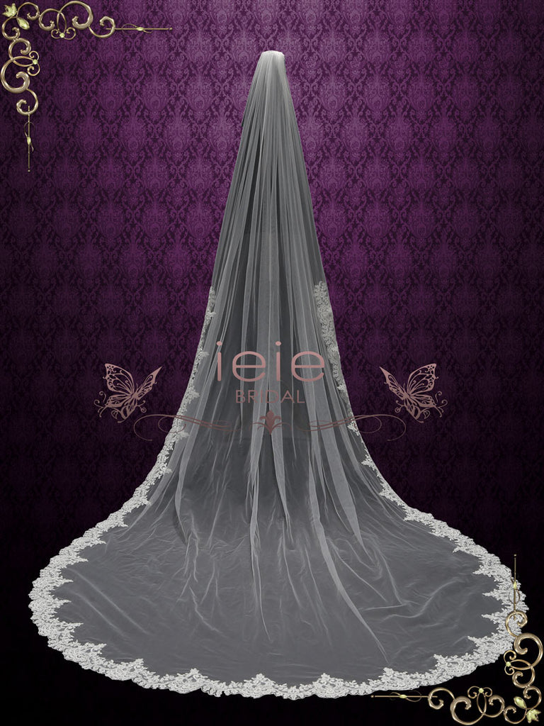 Cathedral Wedding Veil with Lace from Midway |  VG2013