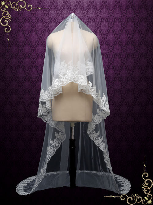 Cathedral Lace Mantilla Veil | VG1007