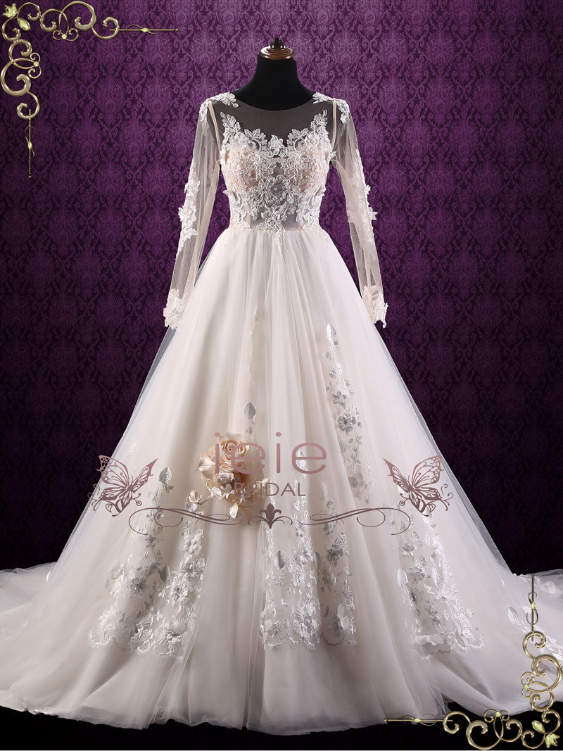 Long Sleeve Lace Wedding Dress | Layla – ieie