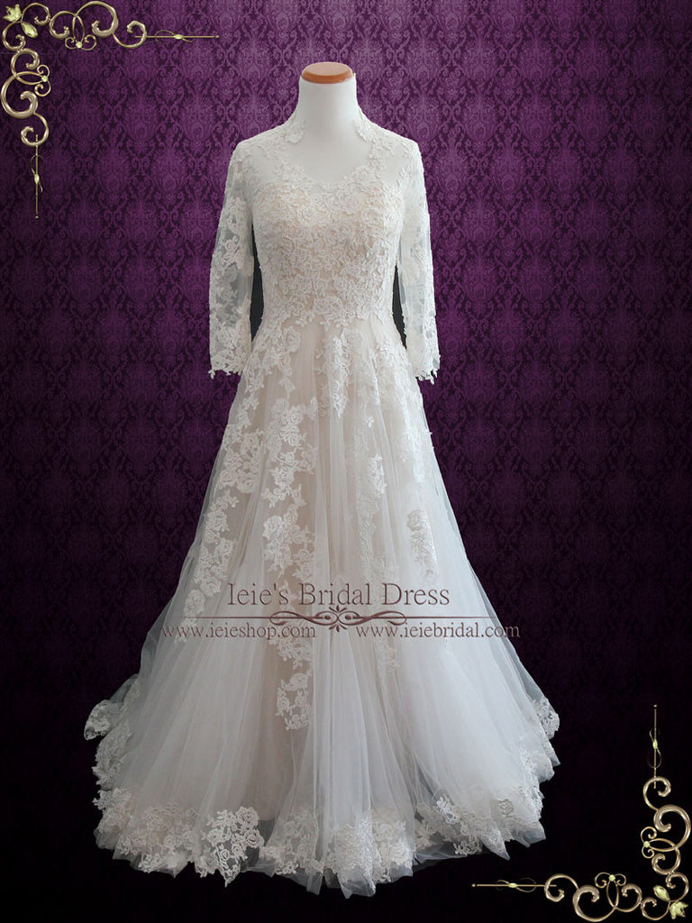 Lace Wedding Dress with Long Sleeves TENISHA