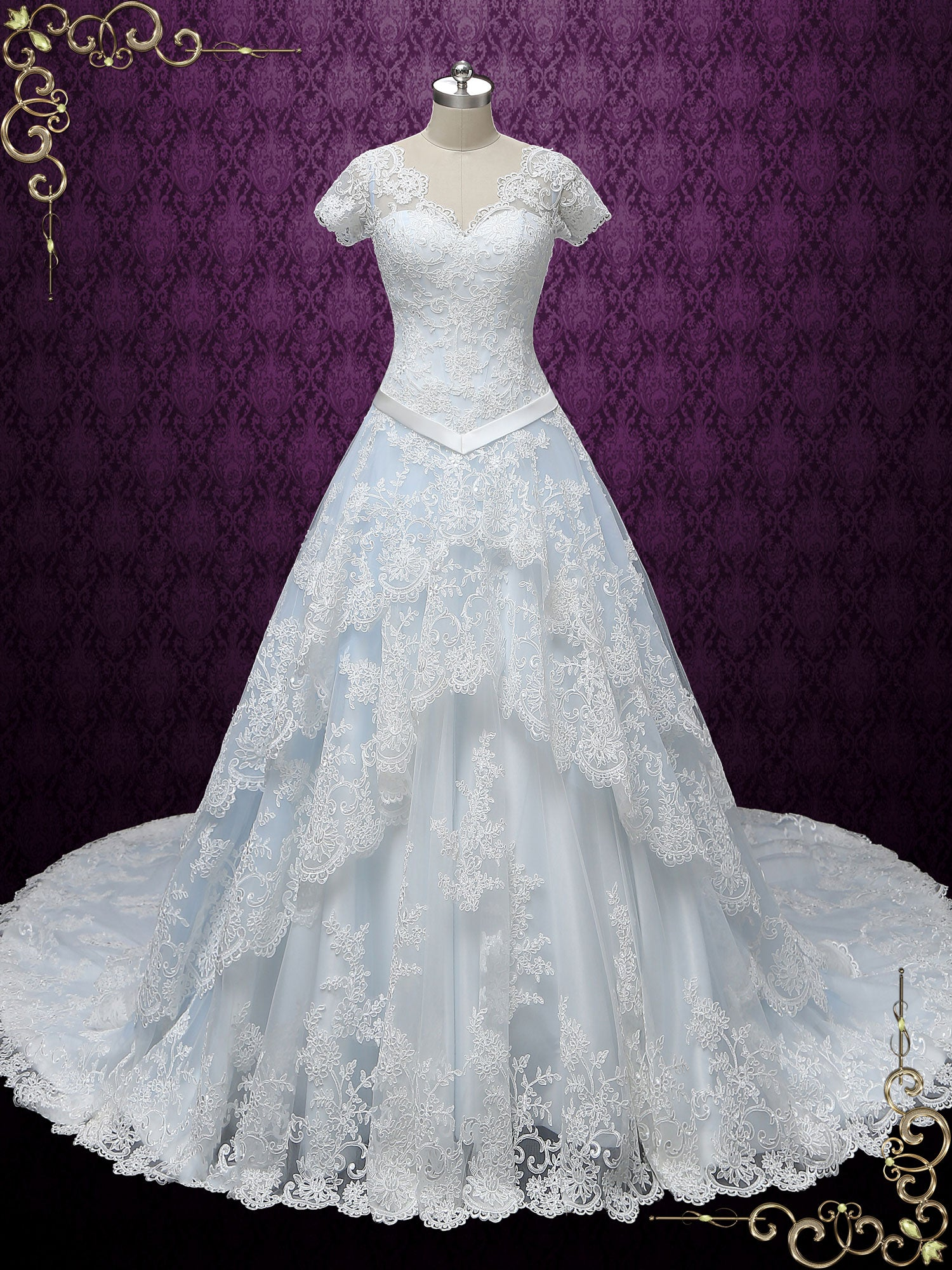 Blue Cinderella Style Princess Wedding Dress | Karina