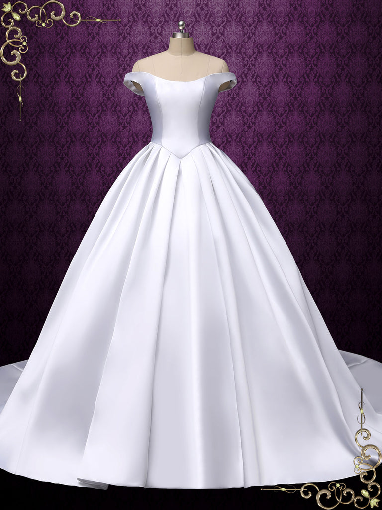 Timeless Satin Ball Gown Wedding Dress | Tatia