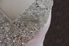 Strapless Jeweled V Neck Tulle Ball Gown Princess Wedding Dress | Penny