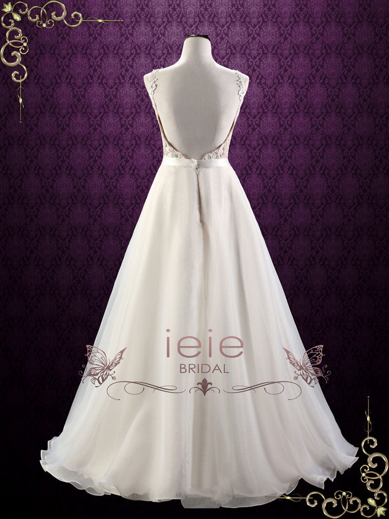 Convertible lace wedding dress with detachable skirt for Wedding dress detachable skirt