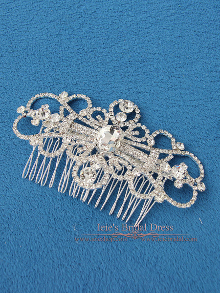 Crystal Bridal Comb, Wedding Comb, Crystal Hair Comb | VG1036