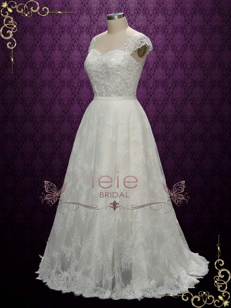 Long Floor length Lace Wedding Skirt JEZABEL