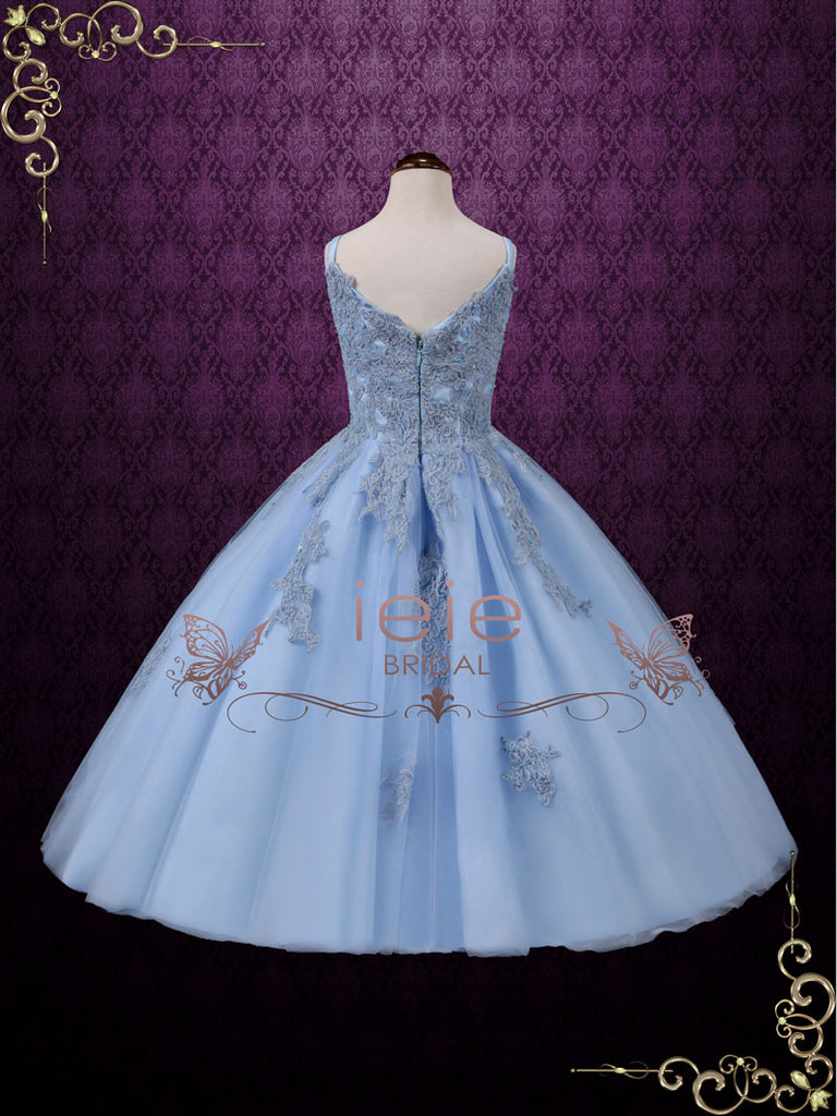 Girl Blue Princess Birthday Dress | Sealie