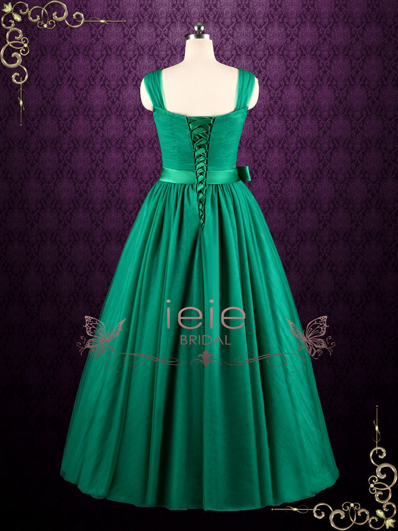 green ball gown