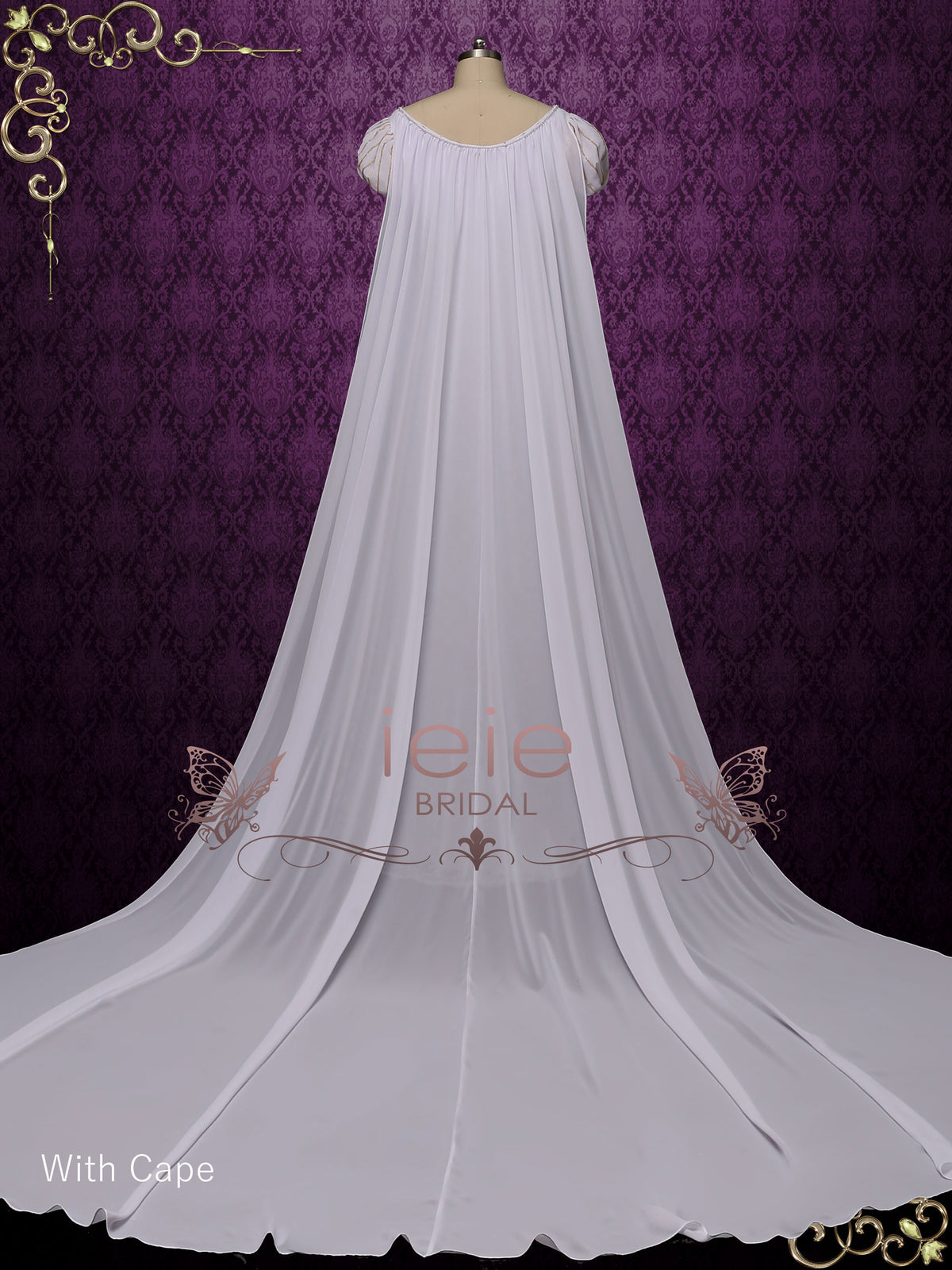 Regency Style Wedding Dress with Princess Puff Sleeves | ANGI