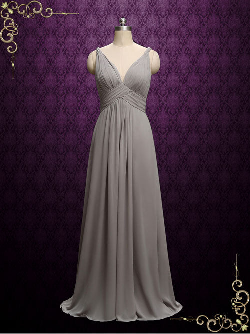 88b96b618c2b Boho Style Long Chiffon Bridesmaid Dress | A5 – ieie