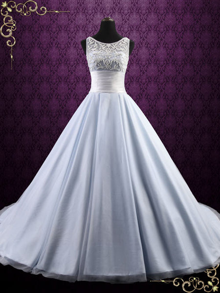 Ice Blue Ball Gown Wedding Dress | Elsa – ieie Bridal