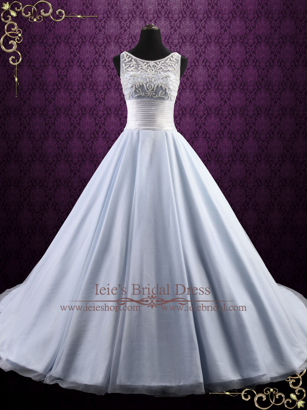 Ice Blue Ball Gown Wedding Dress | Elsa – ieie