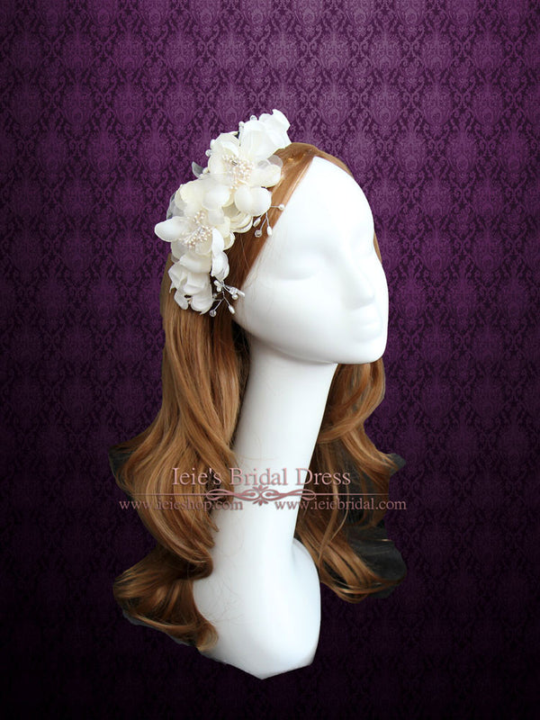 Ivory Bridal Flower Comb