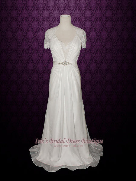 Ready to Wear Slim A-line Premium Chiffon Wedding Dress | Ashley