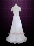 Ready to Wear Slim A-line Premium Chiffon Wedding Dress ASHLEY