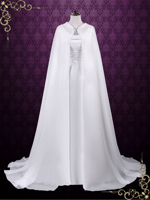 Medieval Chiffon Cloak with Hood