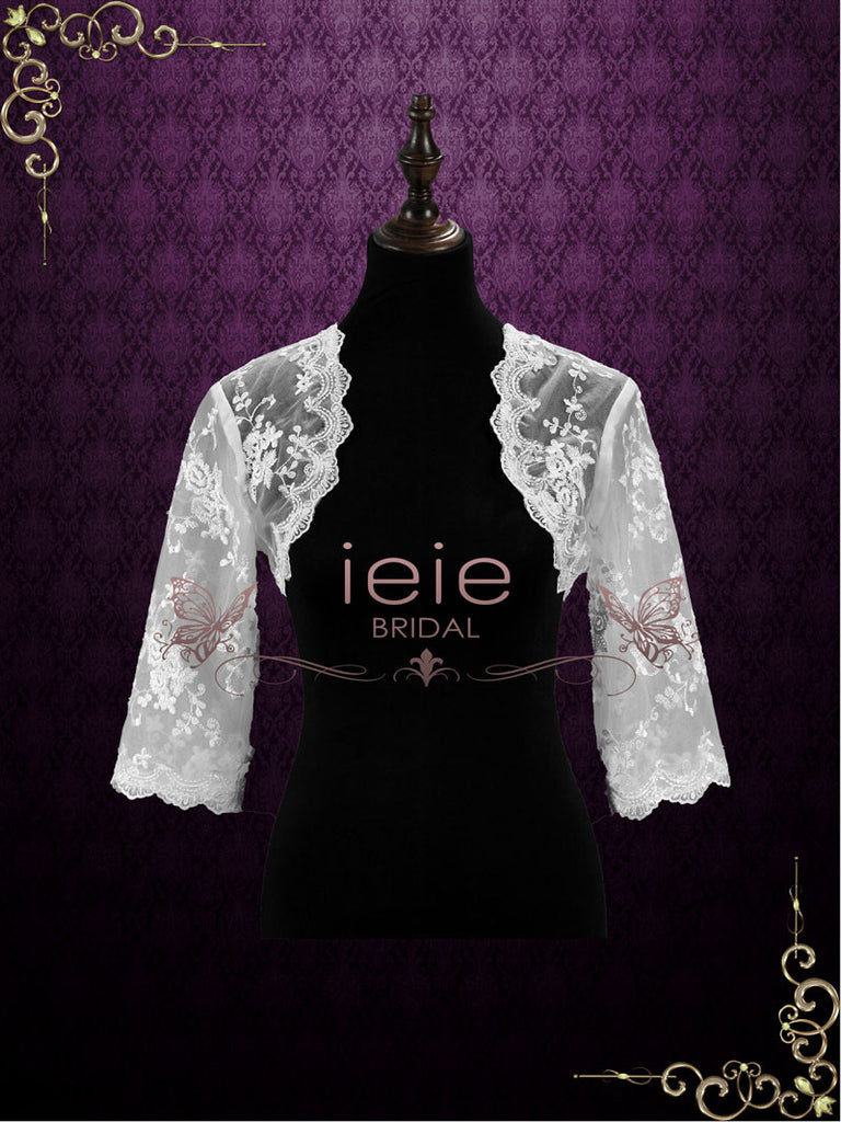 Half Sleeves Lace Bolero Jacket | SG1004