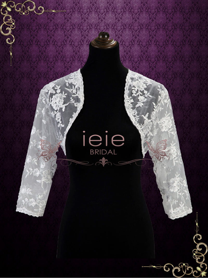 Lace Bolero Jacket with 3/4 Sleeves | SG1007