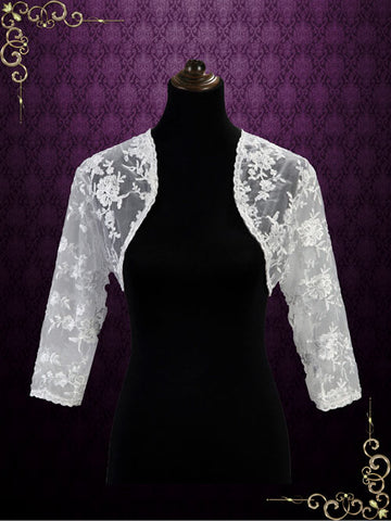 Lace Bolero Jacket with Sleeves | SG1007