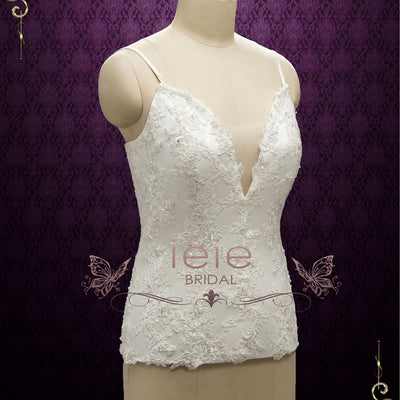 Lace Wedding Dress Top with Corset Back