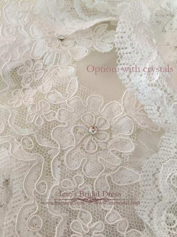 Cathedral and Chapel Length Lace Mantilla Wedding Veil | VG1001