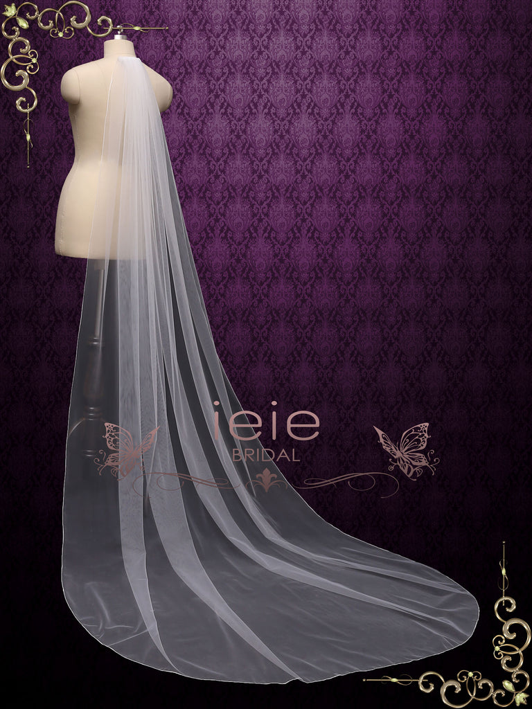 Long Pencil Edge Wedding Veil VG2030