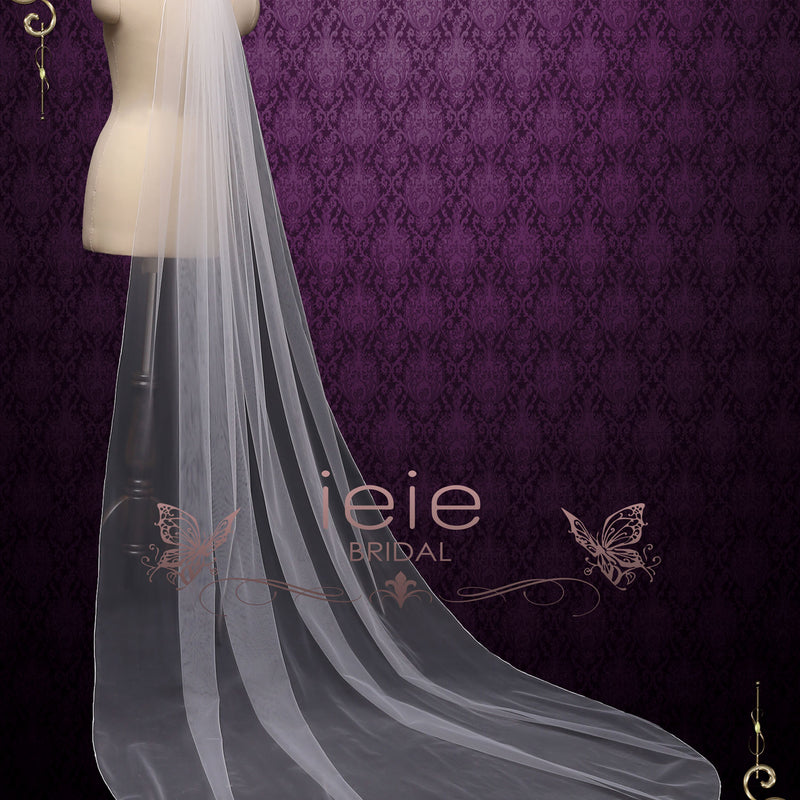 Long Pencil Edge Wedding Veil | VG2030