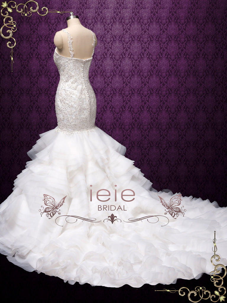 Lace Mermaid Wedding Dress with Ruffle Skirt OLOLADE