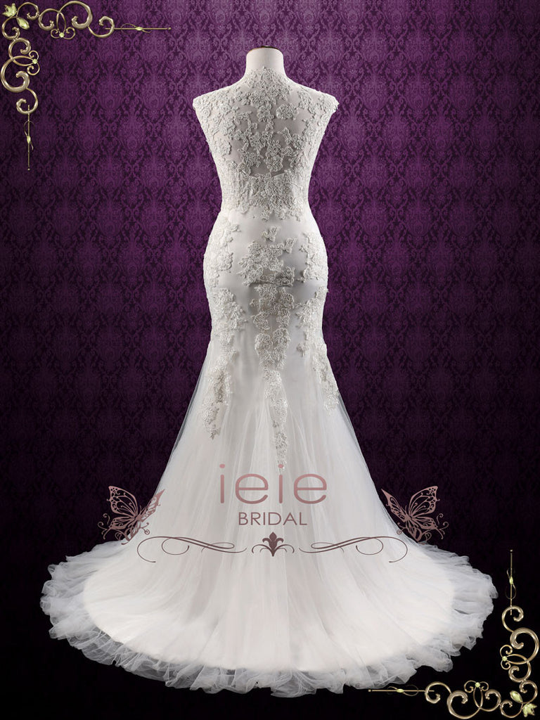 Ready To Ship Mermaid Lace Wedding Dress With Soft Tulle | Isabelle