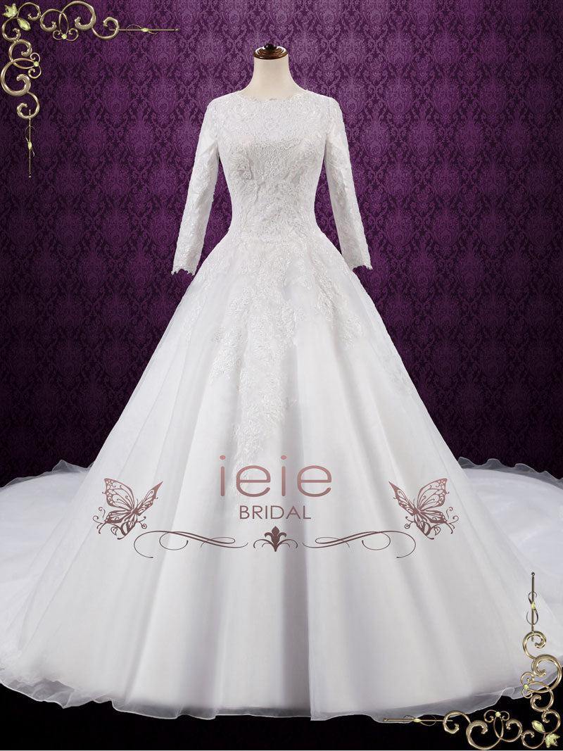 Modest Lace Ball Gown Wedding Dress | Destiny | ieie Bridal