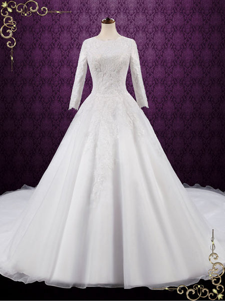 Modest Lace Ball Gown Wedding Dress Destiny Ieie