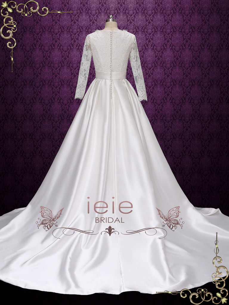 Modest Long Sleeves Lace Wedding Dress Ariana