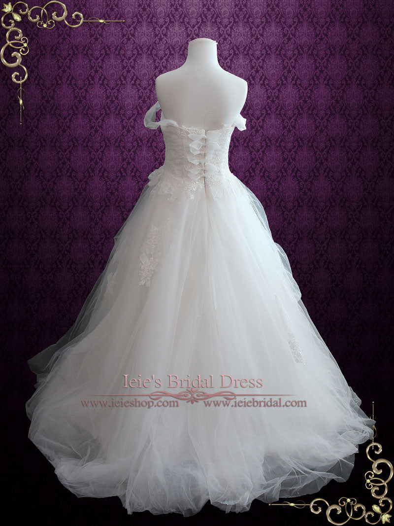 Whimsical Ball Gown Wedding Dress With French Lace