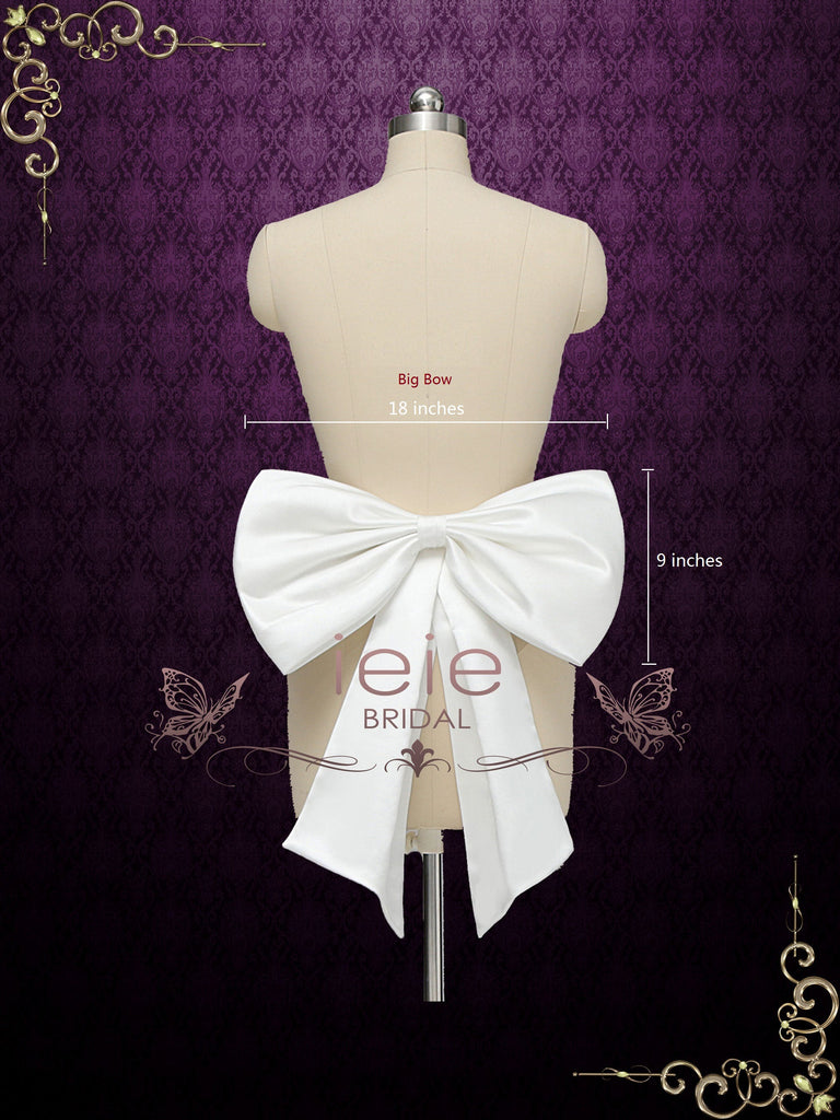 Satin Bow for Wedding and Formal Dress