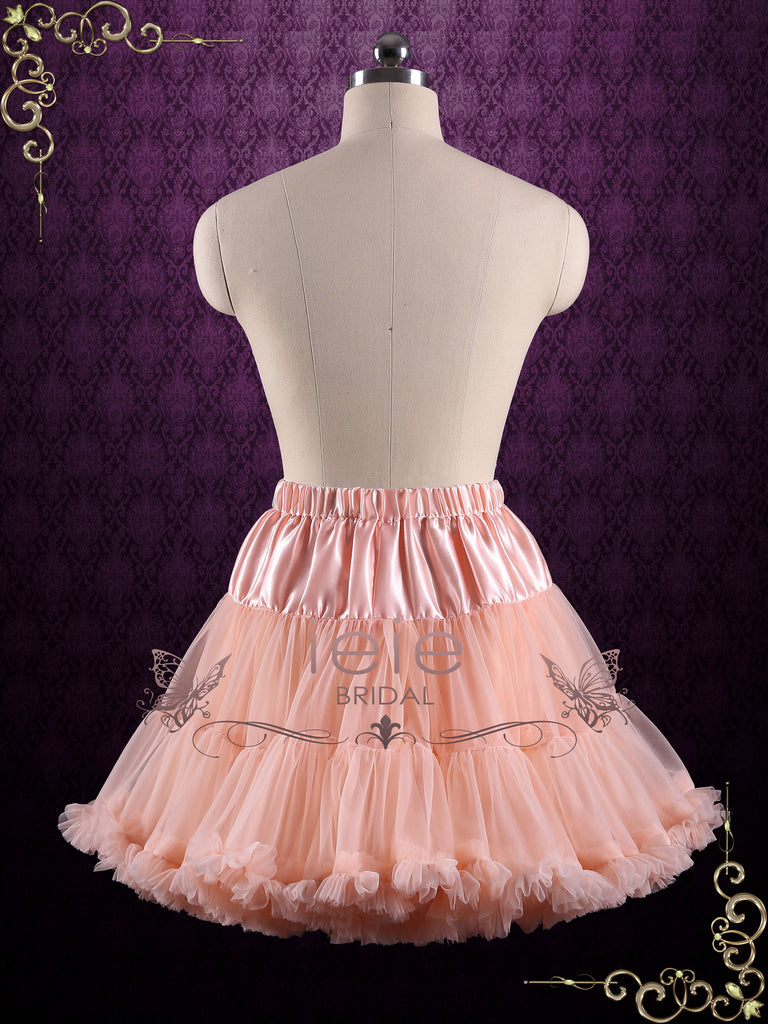 Blush Ruffle Soft Tulle Skirt