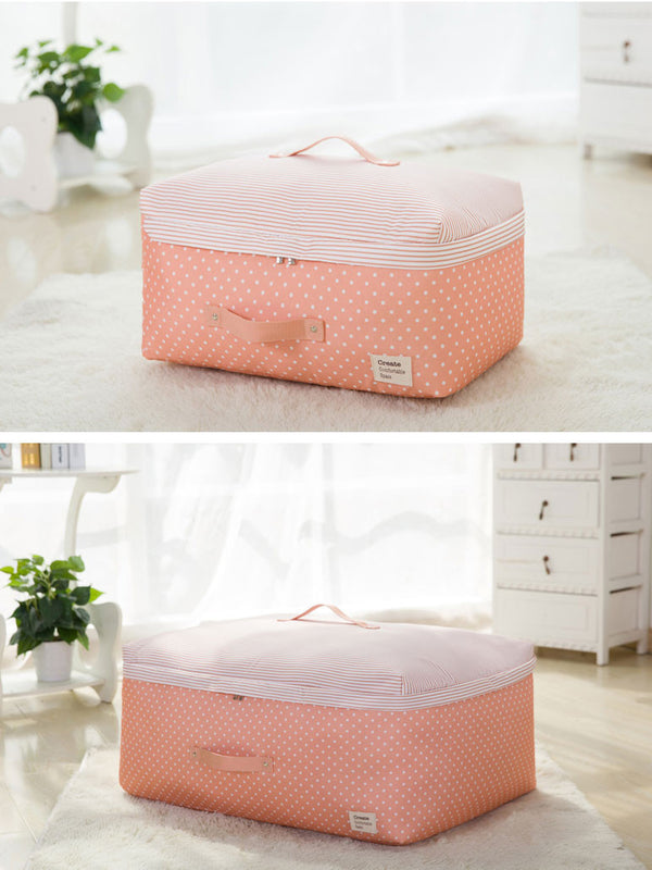 Pink Polka Dot Storage Bag for Wedding Dress | Evening Dress