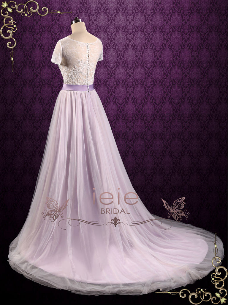 Violet Lace Fairy Tale Wedding Wedding Dress | Hayley
