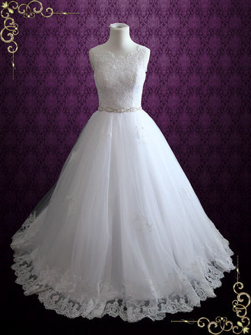 Princess Lace Ball Gown Wedding Dress | Tamie